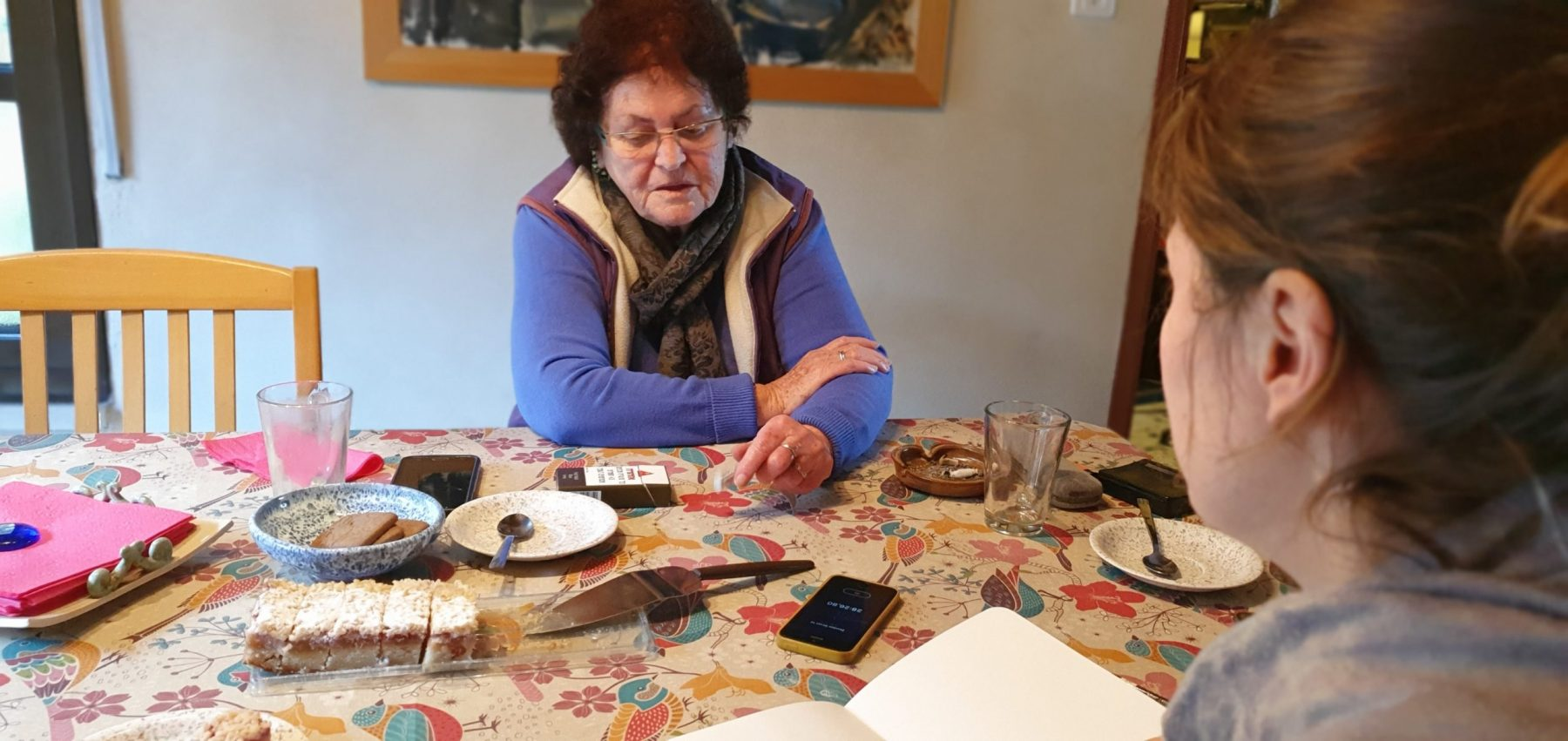 Barbara and Emmie at Emmie's house at Kiryat Tiv'on (February 2020)