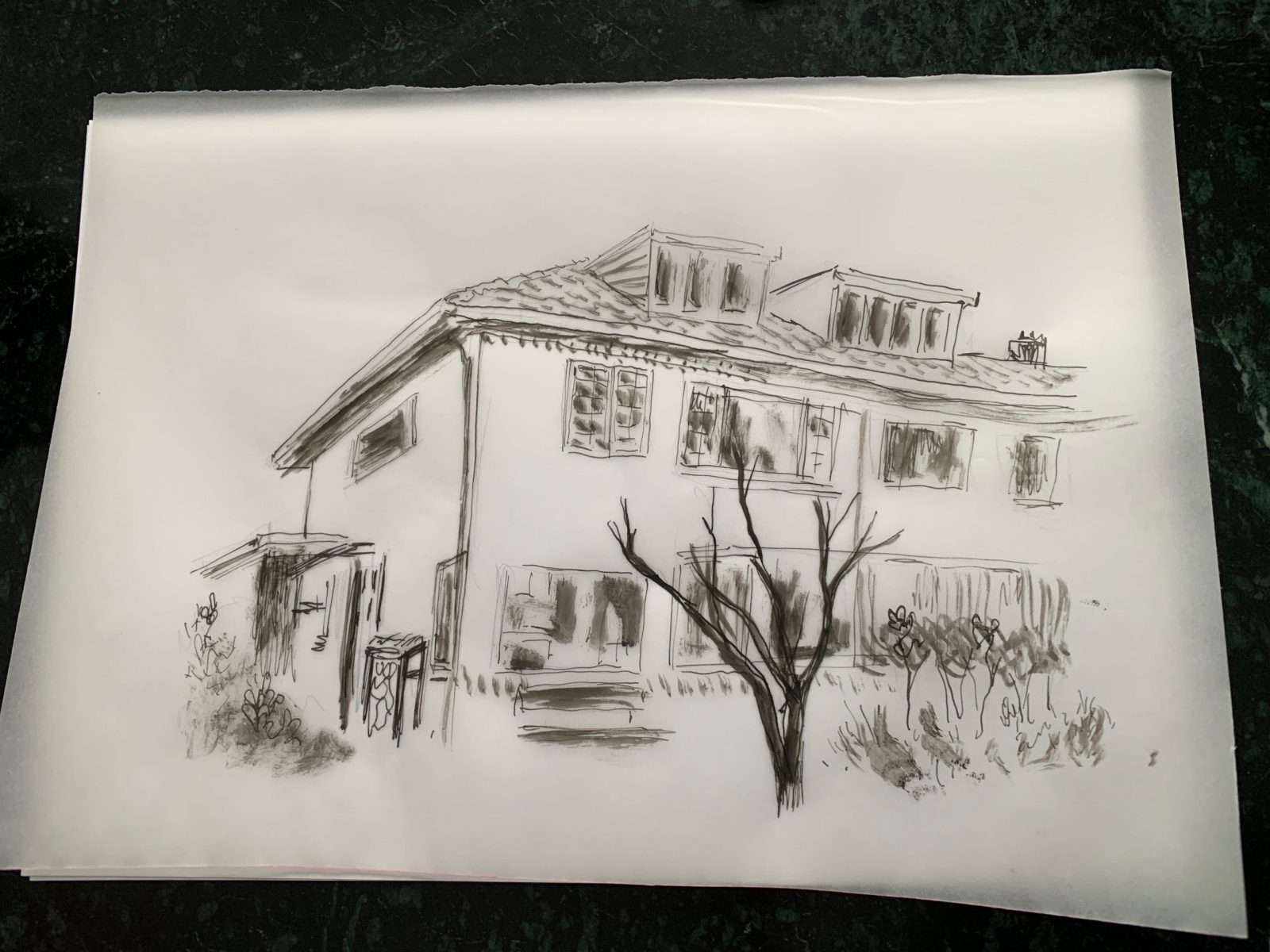 Sketch of childhood home in Amersfoort, Gilad Seliktar