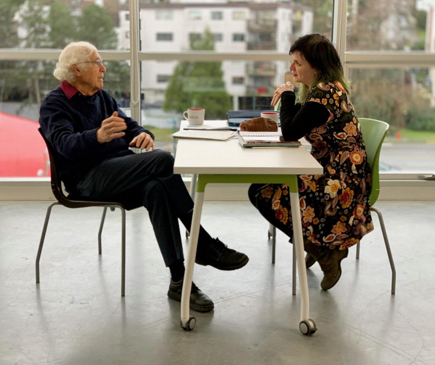 David and Miriam speaking (Vancouver, January 2020)