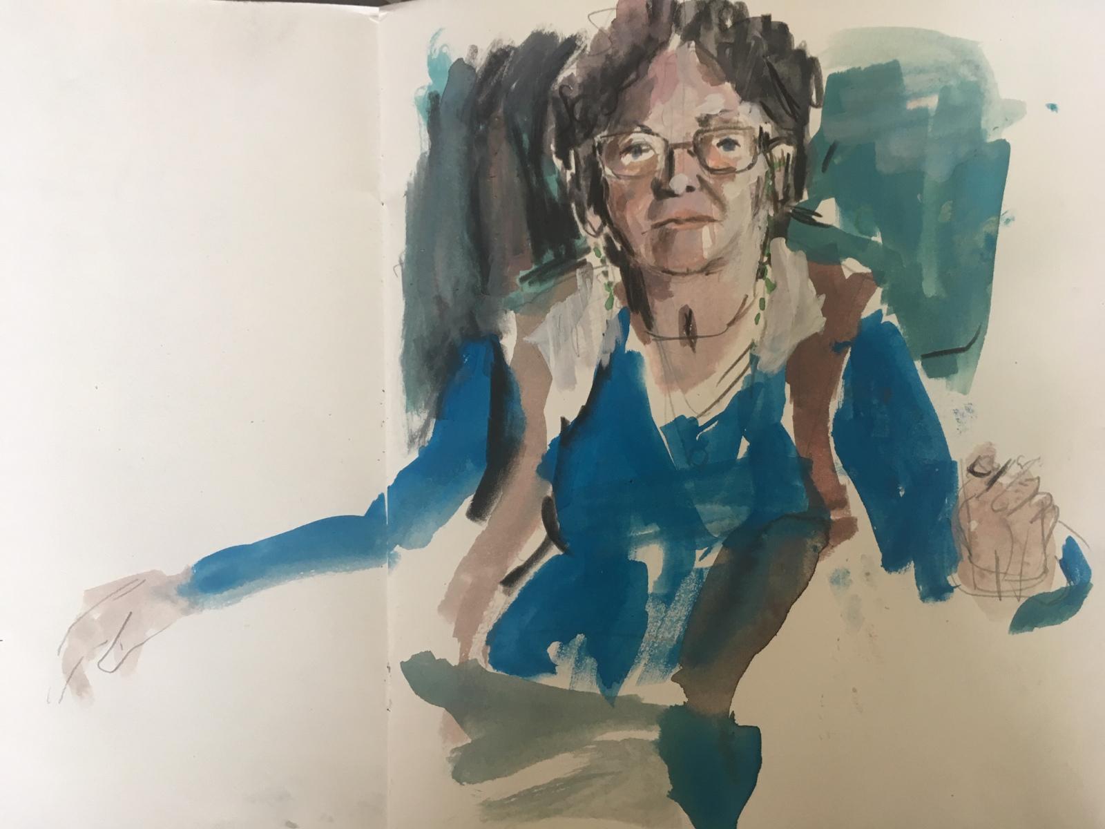 Sketch of Emmie by Barbara Yelin