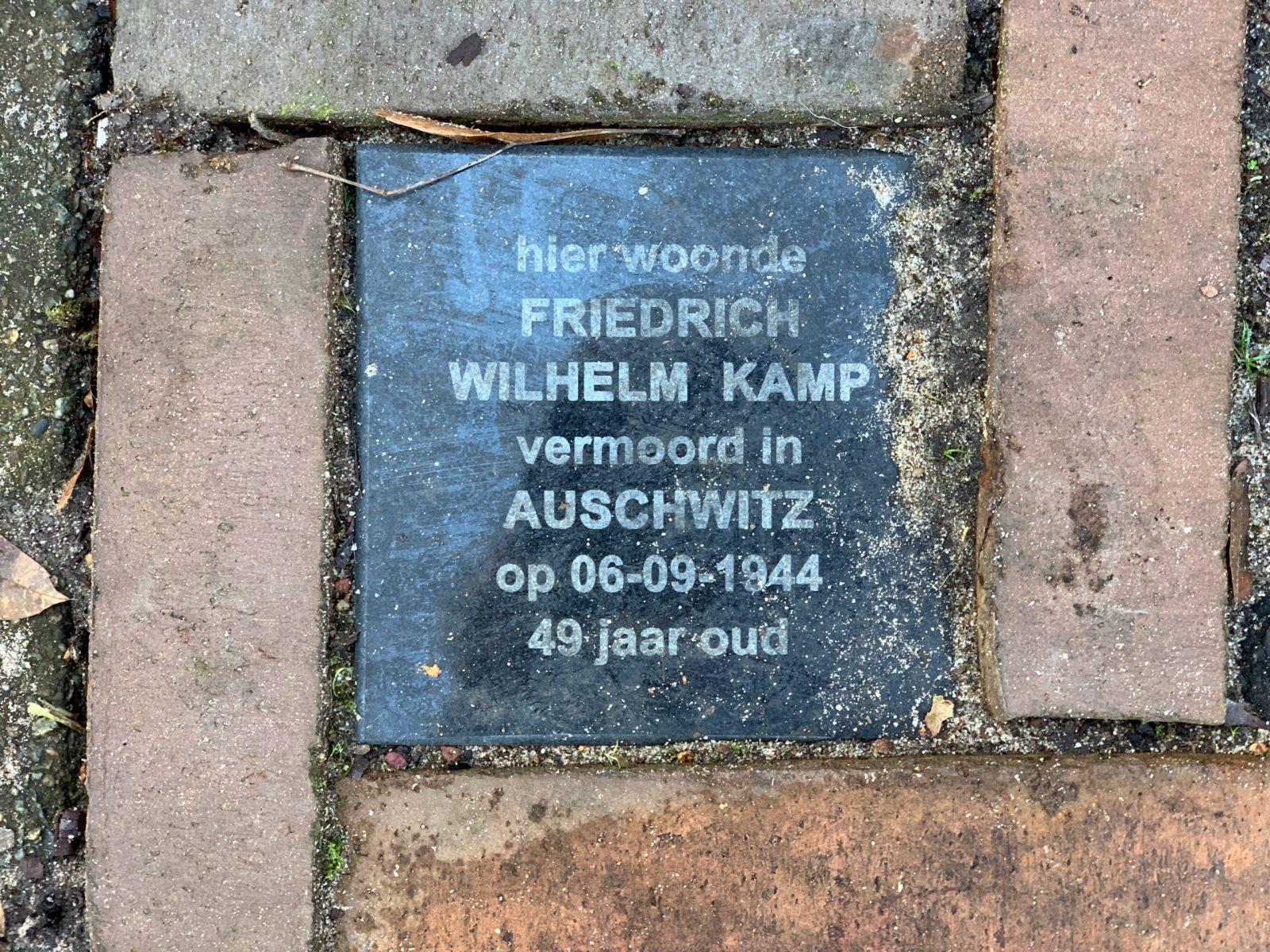 Memorial Plaque for Wilhelm Kamp