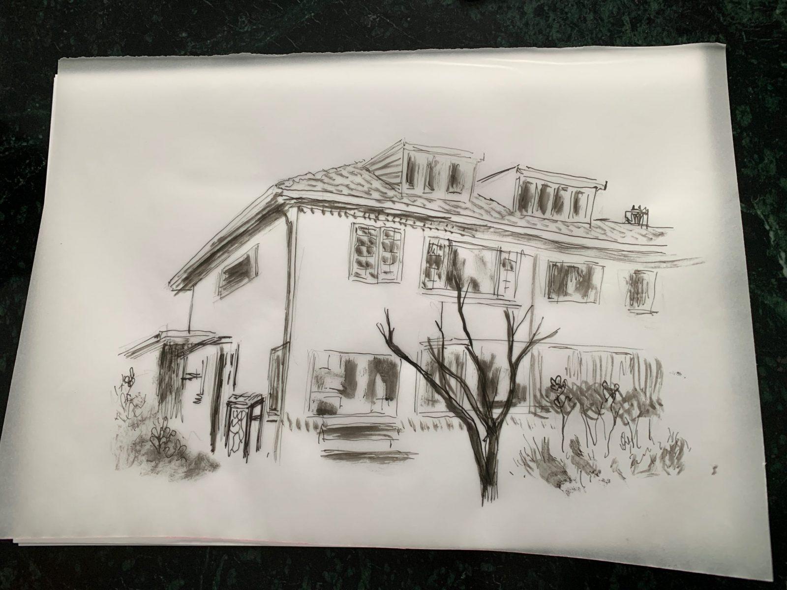 Sketch of childhood home in Amersfoort, Gilad Seliktar