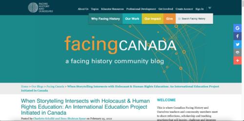 Blog Post: Facing Canada. Facing History